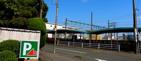 袋井駅が見える近さ